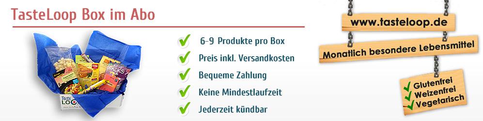 Die TasteLoop Box im Abo - Übersicht