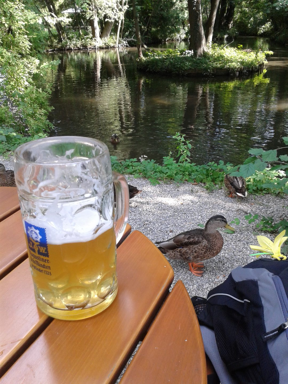 """Biergarten des Hotels """"Insel Mühle"""", München"""