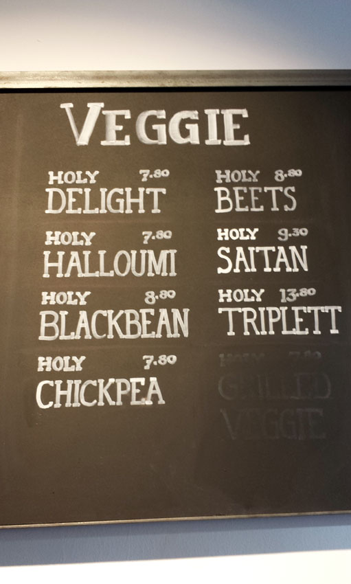 Holy Burger Speisekarte