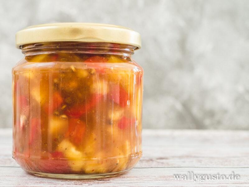 Ananas Paprika Chutney   Rezept auf www.wallygusto.de