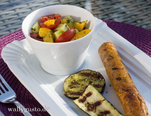 Asia style Veggie-Bratwurst | Rezept auf www.wallygusto.de