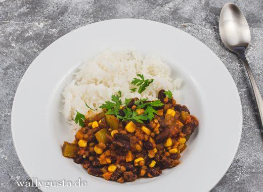 Chili sin Carne mit Berglinsen | Rezept auf www.wallygusto.de