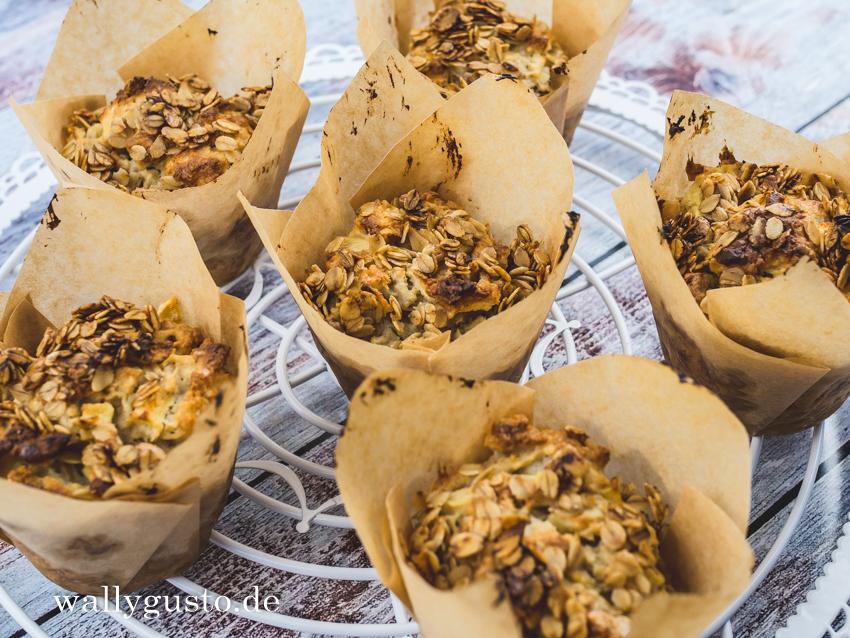 Frühstücksmuffins mit Apfel | Rezept auf www.wallygusto.de