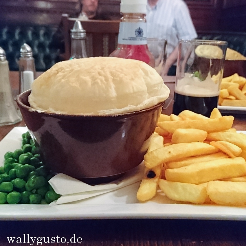 Vegetarische Pie im Goat Major in Cardiff | Wales