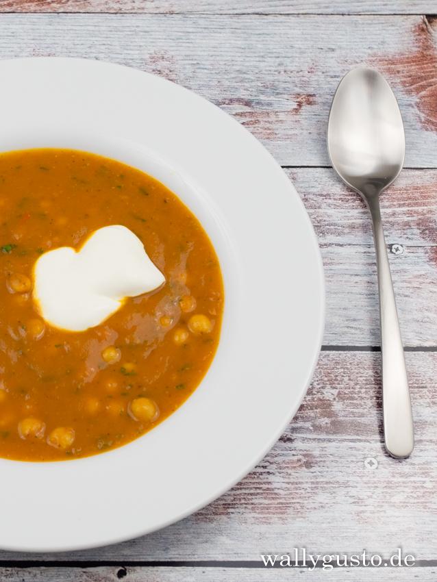 Kürbis-Kichererbsen-Suppe | Rezept auf www.wallygusto.de