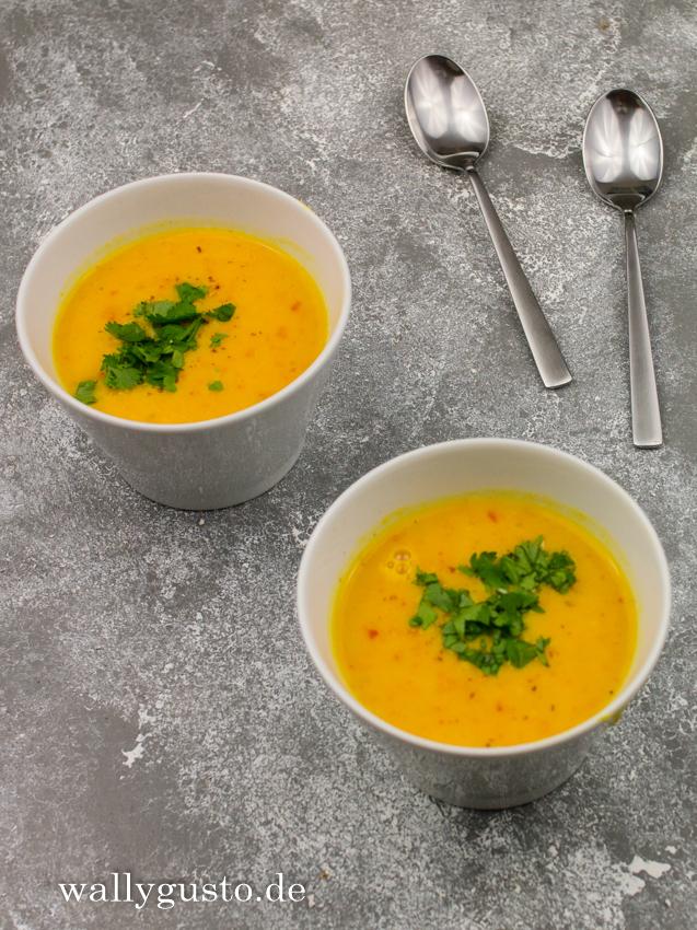 Kürbissuppe mit Orange und Kokosmilch – Wallygusto Der Blog, der durch den Magen geht