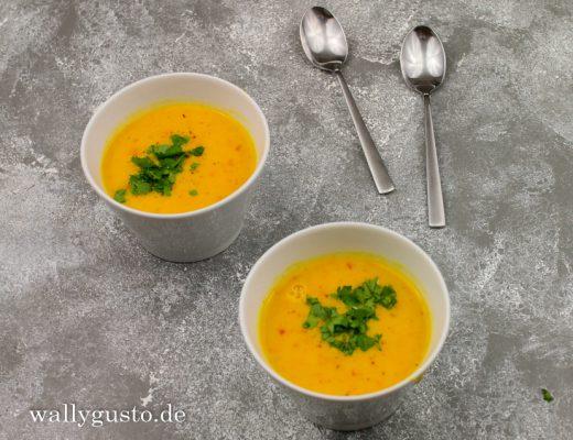 Kürbissuppe mit Orange und Kokosmilch | Rezept auf www.wallygusto.de