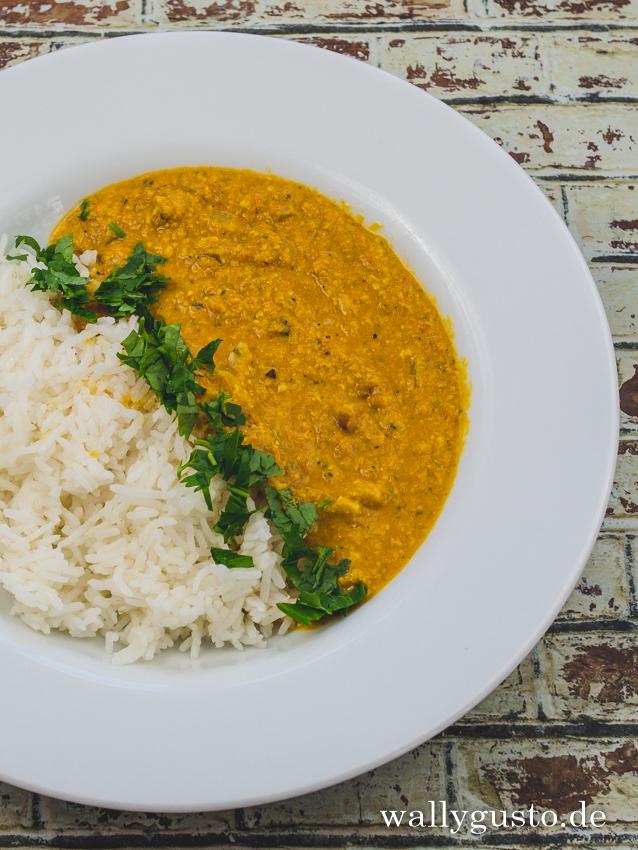 Kaju Masala - ein cremiges Curry mit Cashew | Rezept auf www.wallygusto.de