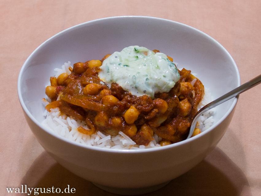 (Veganes) Kichererbsencurry mit Raita