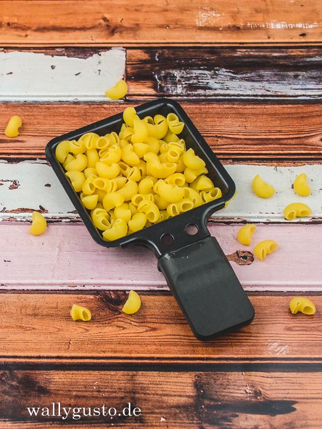 Mac'n'cheese im Raclette-Pfännchen