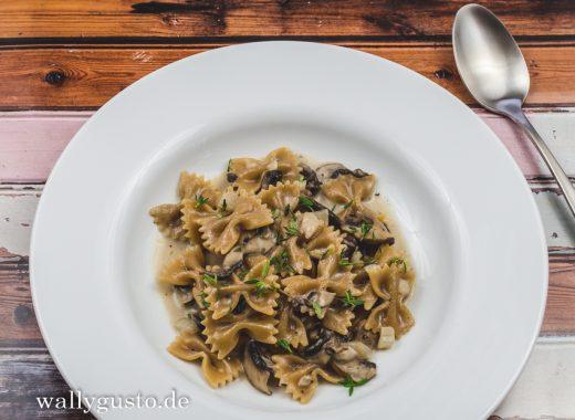 One Pot Pasta mit Pilzen | Ein Rezept auf www.wallygusto.de