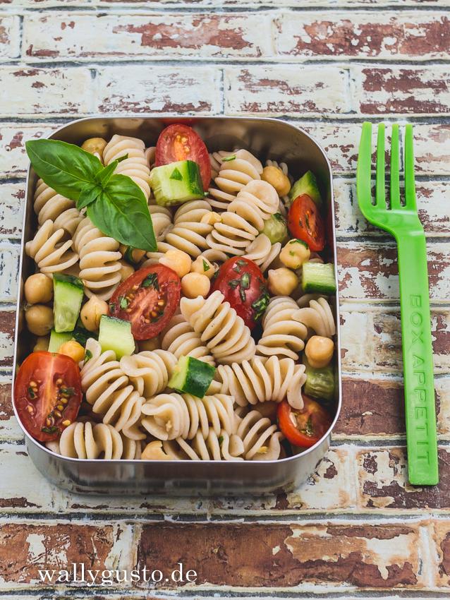 Pasta-Salat mit Kichererbsen | Rezept auf www.wallygusto.de