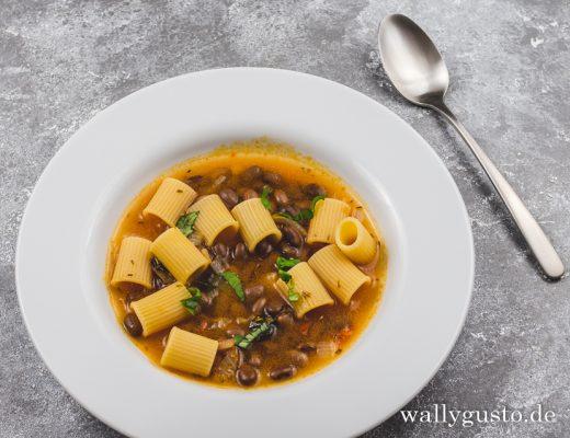 Pasta e Fagioli - Pasta mit Bohnen | Rezept auf www.wallygusto.de