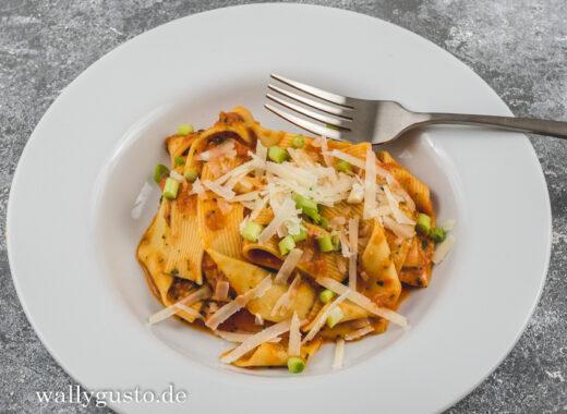 Pasta in Paprika-Limetten-Sauce | Rezept auf www.wallygusto.de