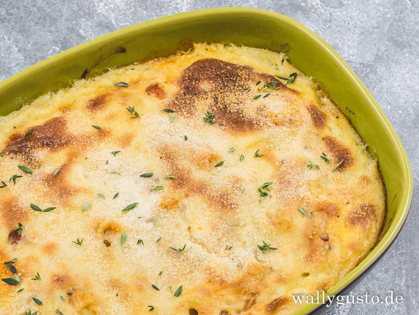 Pastitsio - eine vegetarische Variante mit Linsen | Rezept auf www.wallygusto.de