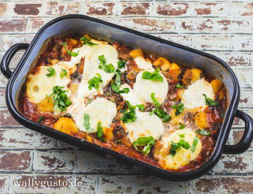 Pizza Gnocchi mit Spinat | Rezept auf www.wallygusto.de