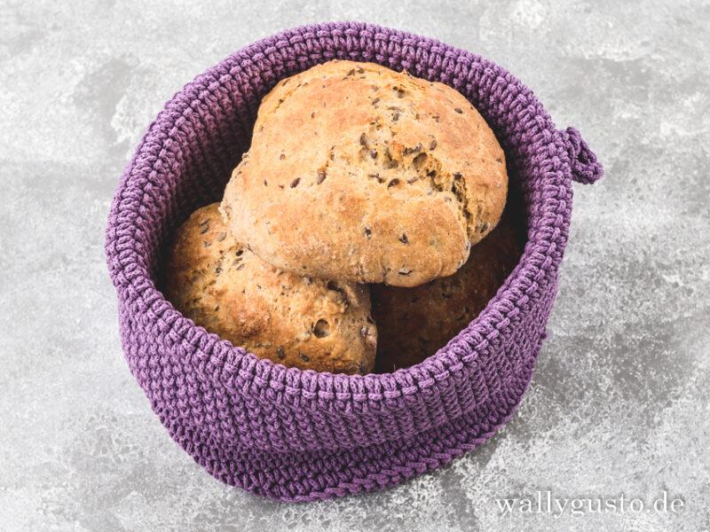 Quarkbrötchen mit Leinsamen   Rezept auf www.wallygusto.de