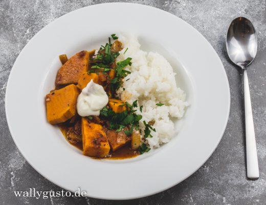 Süßkartoffel Vindaloo | Rezept auf www.wallygusto.de