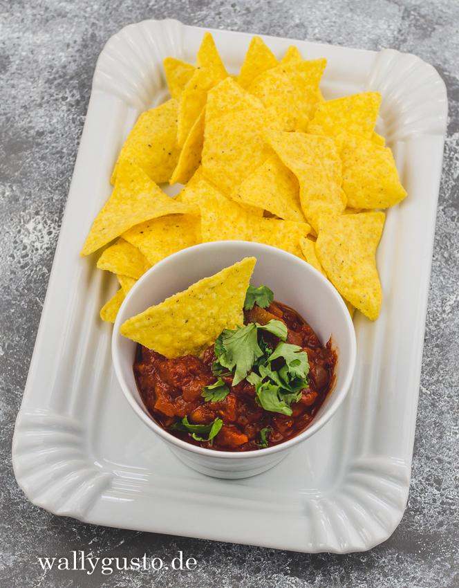 Salsa-Dip für Tortilla-Chips & Gegrilltes | Rezept auf www.wallygusto.de