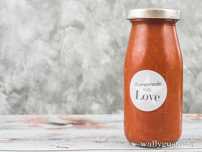 Scharfes Ketchup selbst gemacht | Rezept auf www.wallygusto.de