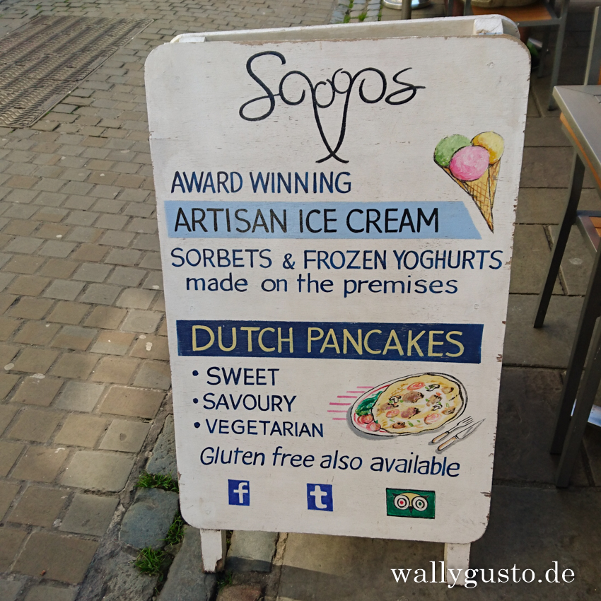 Scoops Artisan Ice Cream & Dutch Pancakes in Caerfarnon | Travel Guide Snowdonia Nationalpark
