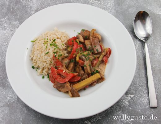 Seitan-Stroganoff - die vegetarische Variante eines Klassikers | Rezept auf www.wallygusto.de