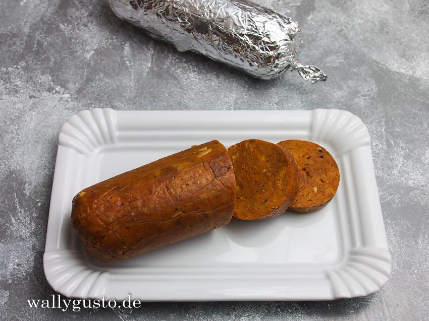 Seitanrolle für Seitan-Gulasch, Geschnetzeltes und andere vegane Köstlickeiten