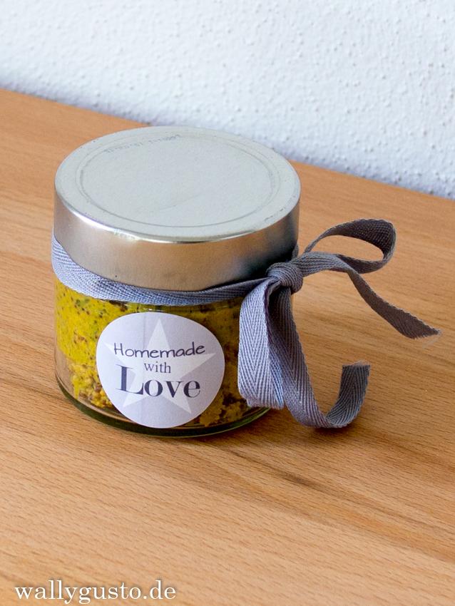 Senf mit Kräutern der Provence & Lavendel