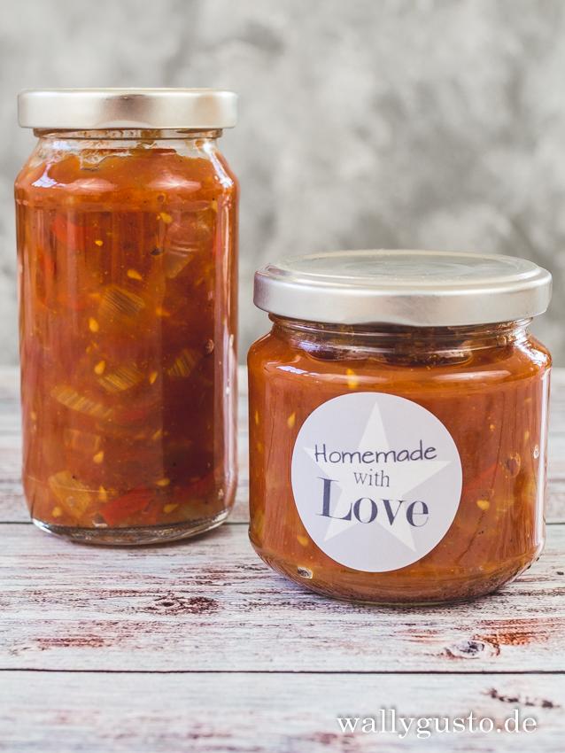 Tomaten-Relish mit Curry | Rezept auf www.wallygusto.de)