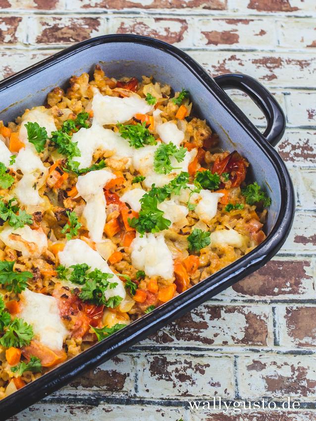 Tortellini-Auflauf mit Karotte & Gorgonzola | Rezept auf www.wallygusto.de