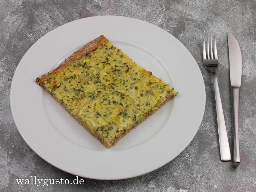 Zwiebelkuchen | Rezept auf www.wallygusto.de